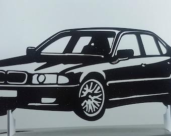 BMW E38 metal sign decorative plaque
