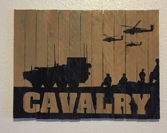 US Army Cavalry Wood Wall Art