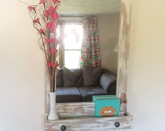 Simply Distressed Mirror - Home Decor