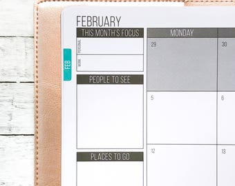 Flush Monthly Tabs | Passion Planner Stickers for the Classic and Compact Size
