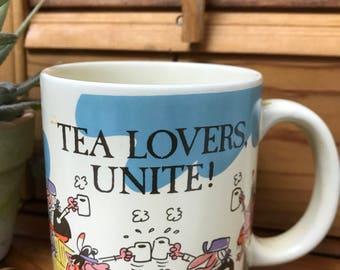 "Vintage ""Tea Lovers Unite"" Mug -1988 American Greetings Designers Collection"