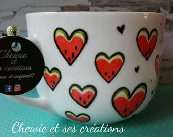 "Cup ""in love with melon"""