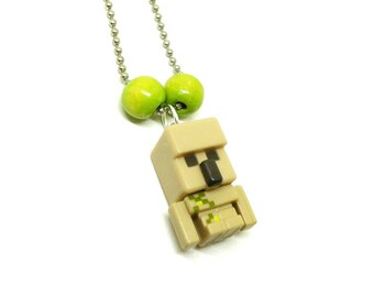 Minecraft Iron Golem boys ball chain necklace - Minecraft necklace