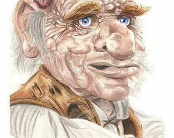 Hoggle from Labyrinth Art Print