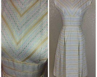 Beautiful Vintage Pastel Dot Day Dress