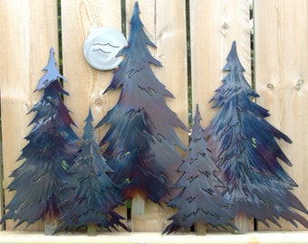5 Pine Tree Grouping (3D)