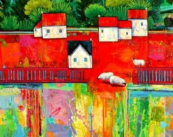 Original painting, Acrylic art, acrylic on canvas, modern art, wall art