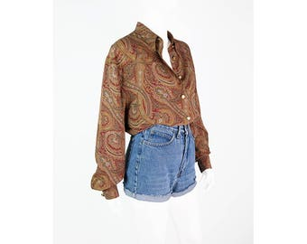 Vintage blouse with Paisley pattern