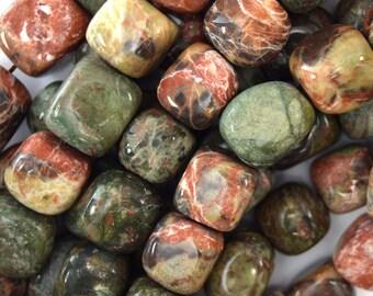 "13-16mm Australian agate nugget beads 15.5"" strand 40081"