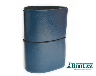 A6 Traveler's notebook blue leather - midori like- fauxdori