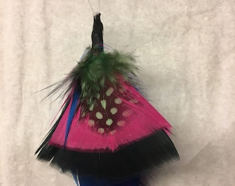 Multi-Colored Feather Keychain
