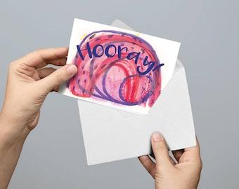 Hooray Congratulations Greetings Card