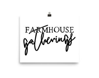 "Home Decor Ready to Frame Poster Print ""Farmhouse Gatherings"""