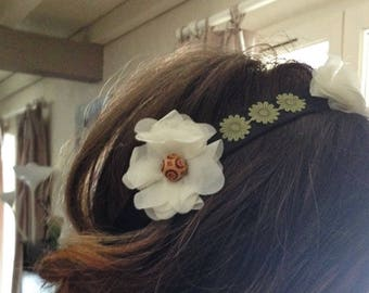 flowers boho headband