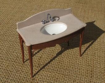 sink console art nouveau (1/12 miniature)