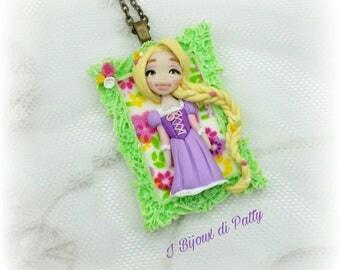 Collana con cammeo Rapunzel
