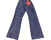 Vintage Jeans 28, High Waist Jeans, Bell Bottom Jeans, Sailor Jeans, 70s Style Jeans, Rigid Jeans, Long Jeans, US Navy Jeans,  SIZE 28 x 33