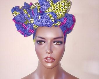African Headwrap,  Scarf, Head Tie, Ankara