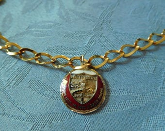 Vintage Wittenburg University Gold Tone Bracelet