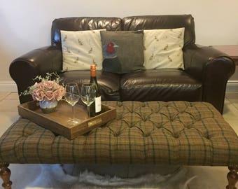 Pheasant Cushion Cover, Pheasant Cushion, Bird Cushion, Harris Tweed Cushion Cover, Applique Cushion Cover