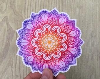 Bright mandala sticker