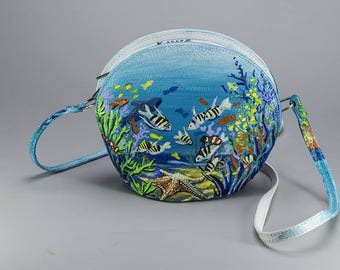 "hand painted handbag ""Sea"""