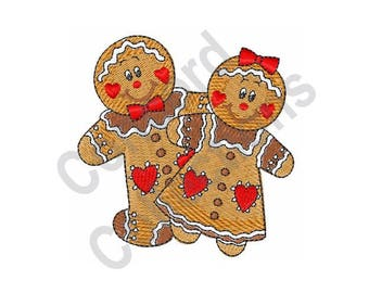 Gingerbread People - Machine Embroidery Design