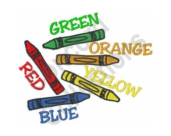 Crayon Colors - Machine Embroidery Design