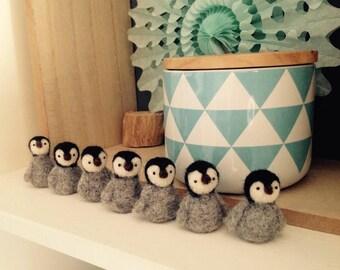 little Penguin /little penguin felt needle felted / cute/felted wool