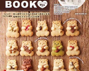 Bear Cookie Cutters and Mini Recipe BOOK + Kawaii Huggy Bear Mold
