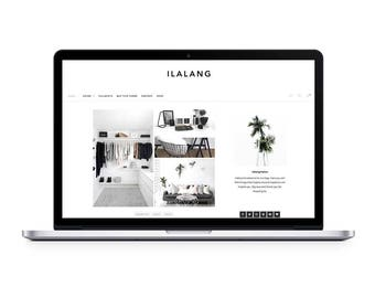 minimalist wordpress theme ilalang // wordpress blog theme // premade wordpress template