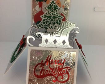 Christmas Santa pop up box card