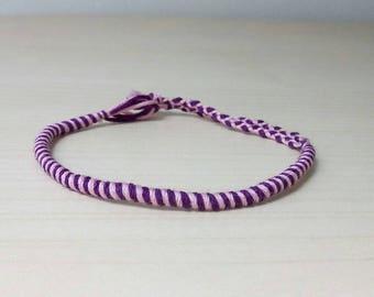 Purple and purple Friendship Bracelet handmade (1)