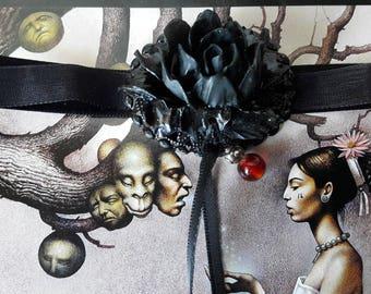 Bracelet - Choker necklace Gothic - romantic
