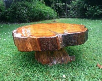 Handmade Tree Trunk Coffee Table