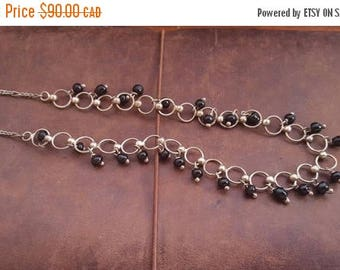 ON SALE Vintage Silver and Bead Necklace