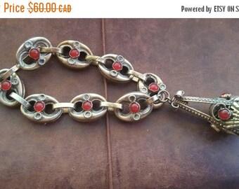 ON SALE Vintage Italian Alpaca Bracelet