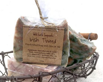 SALE!! Irish Tweed Handcrafted Soap with Irish Ale and Aloe