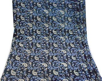 Printed Fabric Sewing Floral Dress Wrap 100% Cotton Tunic Material Home Decor Fabric Black Dress Making By the Yard Fabric