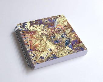 "Notebook 4x4"" decorated with motifs of marbled papers - 47"