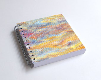 "Notebook 4x4"" decorated with motifs of marbled papers - 11"