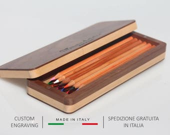 Wooden box, Pencil box, Pen box, Pencil case, Anniversary gift, Pencil holder, Pen holder, Pencil pouch, Personalized gift, Cute Pencil case