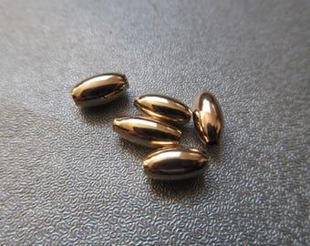 14K Gold Filled Oval Spacer 9x5mm 5pcs
