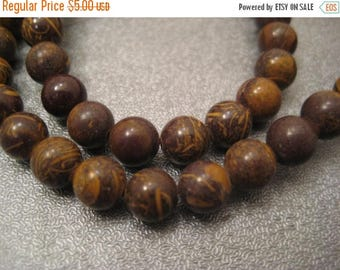 ON SALE 15% OFF Elephant Skin Jasper Round 6mm Beads 63pcs