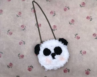 Blythe Doll Bag/purse  - handmade crocheted bag for your Blythe doll. Cute panda bag