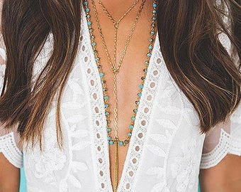 Boho Multi Layer Bead Necklace - WOW
