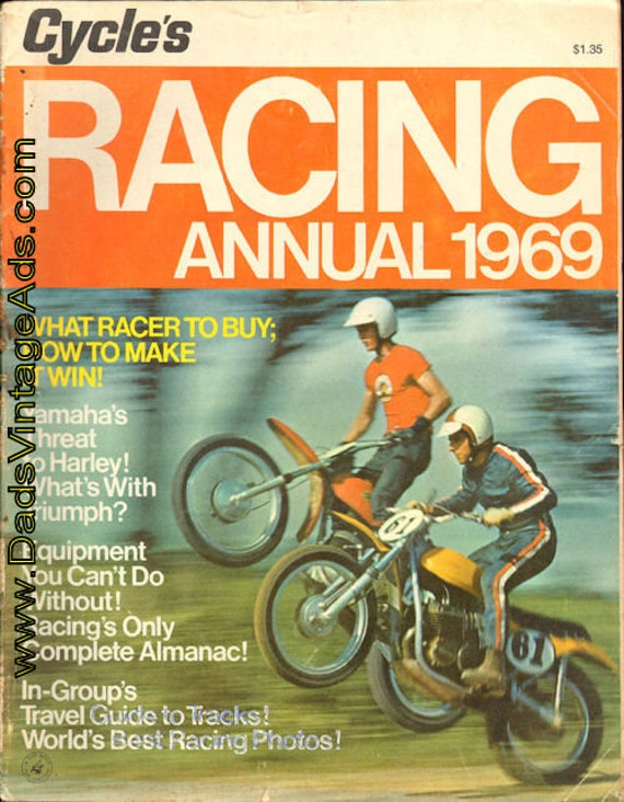 1969 Cycle Racing Annual - A Guide to Motorcycle Sport Book #6901racyc