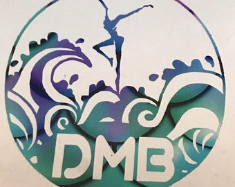 Oceandancer permanent outdoor decal dmb inspired 6""