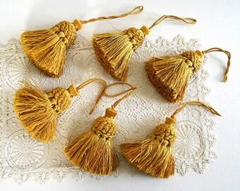 vintage gold tassel door key tassel small golden tassel