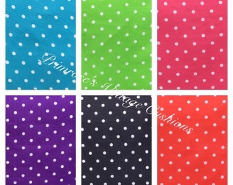 """NEW 16"""" Blue Green Pink Navy Purple Or Red Polka Dot Cushion Cover Shabby Chic, Country Cottage, Vintage Style"""